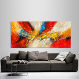 Abstract Modern Art Oil Painting on Canvas Amazing Abstract Gold Flow Painting - Amazing Abstract 12 - LargeModernArt