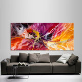 Abstract Modern Art Oil Painting on Canvas Amazing Abstract Gold Flow Painting - Amazing Abstract 16 - LargeModernArt