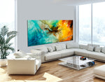 Abstract Modern Art Oil Painting on Canvas Modern Wall Art Painting - Amazing Abstract 2 - LargeModernArt