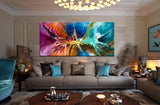 Large Modern Art Oil Painting on Canvas Modern Wall Art - Amazing Abstract 15 - LargeModernArt