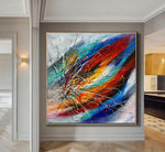 Large Modern Art Oil Painting on Canvas - Modern Wall Art Amazing Abstract 18 - LargeModernArt