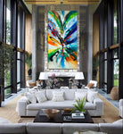 Large Modern Art Oil Painting on Canvas - Modern Wall Art Amazing Abstract 20 - LargeModernArt