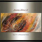 Abstract Modern Art Oil Painting on Canvas Amazing Abstract Strings Painting -Amazing Abstract 22 - LargeModernArt