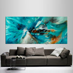 Large Modern Art Oil Painting on Canvas - Modern Wall Art Amazing Abstract 3 - LargeModernArt