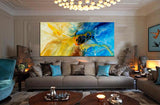 Large Modern Art Oil Painting on Canvas - Modern Wall Art Amazing Abstract 5 - LargeModernArt