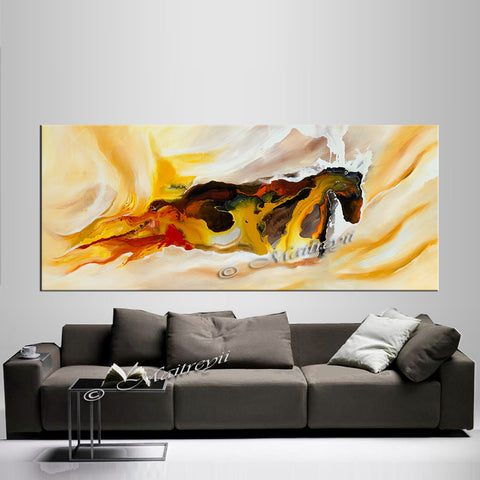 Large Modern Art Oil Painting on Canvas - Modern Wall Art Amazing Abstract 6 - LargeModernArt