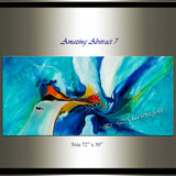 Large Modern Art Oil Painting on Canvas - Modern Wall Art - Amazing Abstract 7 - LargeModernArt