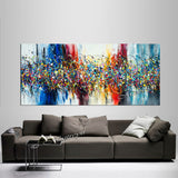 Abstract Angel Paintings | Jackson Pollock Style | Large Modern Art - Beauty of Bridge 6 - LargeModernArt