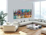 Painting Jackson Pollock Multiple Size Drip Style Abstract art on Canvas, large Wall Art - Beauty of Bridge - LargeModernArt