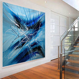large Wall Art - Blue Ray - LargeModernArt