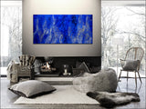 Abstract Art | Blue Visual Depth Texture Painting | LargeModernArt - Blue Texture - LargeModernArt