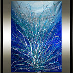 large Wall Art - Blue Sparkle - LargeModernArt