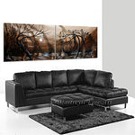 Original Abstract Paintings Landscape Art - Chocolate World - LargeModernArt