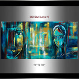 Large Modern Art Oil Painting on Canvas Modern Wall Art Figurative - Divine Love 5 - LargeModernArt
