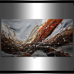 "Framed Wall Art Red Gray 72"", Wall Decor Sale - Earthly Beauty - LargeModernArt"