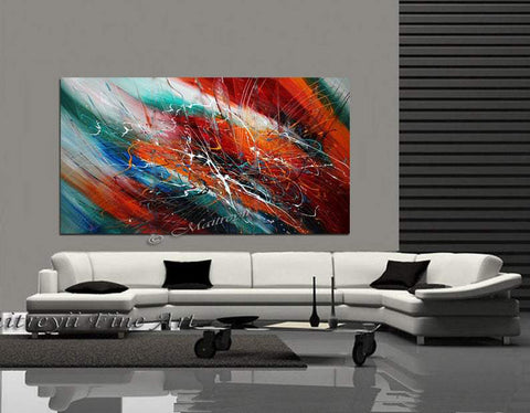 Abstract art Decor Large Painting Wall Art- Fall in Love - LargeModernArt