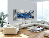 Large Modern Art Oil Painting on Canvas - Modern Abstract Wall Art Fighter Plane 5 - LargeModernArt