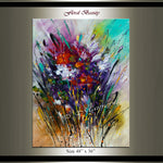 Original Modern Art Oil Painting For Sale -Floral Beauty - LargeModernArt