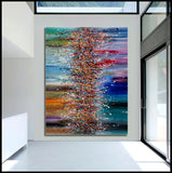 Paintings for Sale Abstract Paintings Jackson Pollock Multicolor Drip Style Art on Canvas, large Wall Art - Heavenly Beauty - LargeModernArt