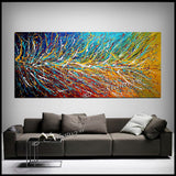 Multicolored Painting On Canvas Original Artwork For Sale - Unreal Beauty 11 - LargeModernArt