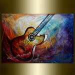 Large wall art - Music Home Decor Guitar Wall Art - LargeModernArt