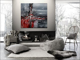 Original Abstract Art For Sale - Modern Wall Art Luxury Homes Office - Light Storm - LargeModernArt