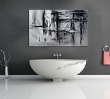 Black and White Large Painting For Modern Homes - Light And Shade 2 - LargeModernArt