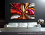 Large Oil Painting For Luxury homes - Lovers Lane - LargeModernArt