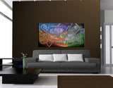 Abstract Painting Modern Art for Sale - Luscious Strings 2 - LargeModernArt