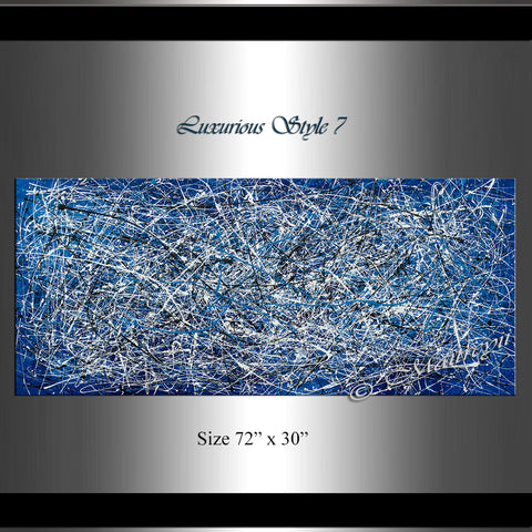 Abstract Angel Paintings | Jackson Pollock Style | Large Modern Art - Luxurious Style -7 - LargeModernArt
