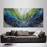 Abstract painting 72, Wall Art Home Decor - Ocean Sparkle 2 - LargeModernArt