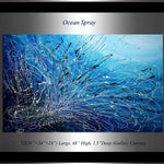 Blue Modern Art For Luxury Homes | Ocean Spray - LargeModernArt