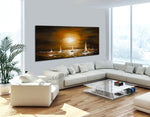Large Ocean Art Oil Painting on Canvas Modern Wall Art Seascape - Ocean Journey 4 - LargeModernArt