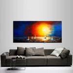 Large Ocean Art Oil Painting on Canvas Modern Wall Art Seascape - Ocean Journey 5 - LargeModernArt