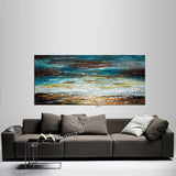Large Ocean Art Oil Painting on Canvas Modern Wall Art Seascape - Ocean Miracle - LargeModernArt