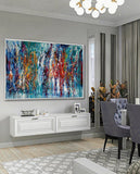 Abstract Angel Paintings | Jackson Pollock Style | Large Modern Art - Path to Paradise - LargeModernArt