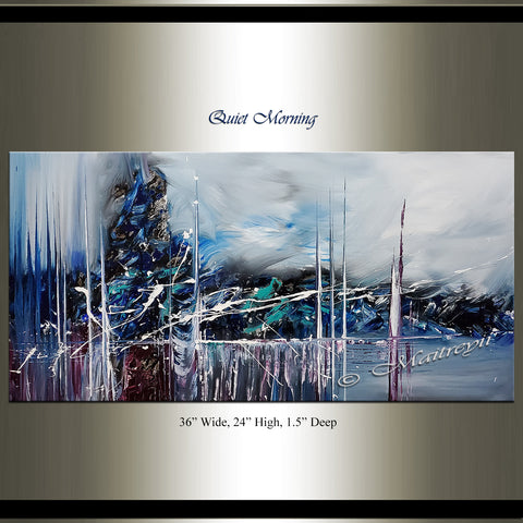 Abstract Modern Art Oil Painting For Sale - Quiet morning - LargeModernArt
