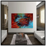 Red Painting On Canvas Original Artwork For Sale - Red Passion - LargeModernArt