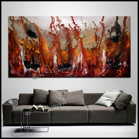 Abstract Paintings  Modern Art For Luxury Homes | Rising in Love - LargeModernArt