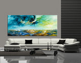 Large Ocean Art Oil Painting on Canvas - Modern Wall Art - Seascape 28 - LargeModernArt