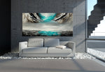 Large Ocean Art Oil Painting on Canvas - Modern Wall Art - Seascape 40 - LargeModernArt