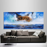 Abstract Modern Art Oil Painting on Canvas Modern Wall Art Mystic Texture Painting - Seascape 20 - LargeModernArt