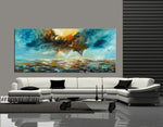 Abstract Modern Art Oil Painting on Canvas Modern Wall Art Mystic Texture Painting - Seascape 31 - LargeModernArt