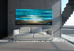 Large Ocean Art Oil Painting on Canvas Modern Wall Art Seascape - Ocean Journey 9 - LargeModernArt