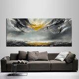 Large Ocean Art Oil Painting on Canvas - Modern Wall Art - Seascape 5 - LargeModernArt