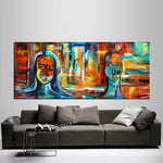 Large Modern Art Oil Painting on Canvas - Modern Wall Art Figurative Divine Love - LargeModernArt