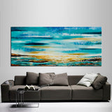 Large Ocean Art Oil Painting on Canvas Modern Wall Art Seascape - Ocean Journey 17 - LargeModernArt