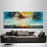 Large Ocean Art Oil Painting on Canvas Modern Wall Art - Seascape Painting 7 - LargeModernArt