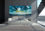 Large Ocean Art Oil Painting on Canvas Modern Wall Art Seascape Painting - Seascape 3 - LargeModernArt