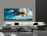 Large Ocean Art Oil Painting on Canvas Modern Wall Art Seascape Painting - Seascape 1 - LargeModernArt